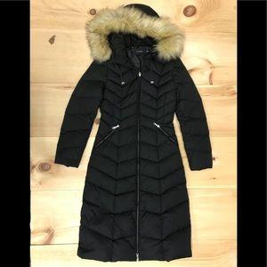 Tahari down coat detachable fur NWOT and label